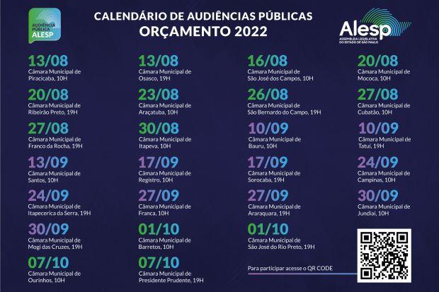 Assembleia Legislativa do Estado de São Paulo inicia audiências públicas para o Orçamento estadual de 2022