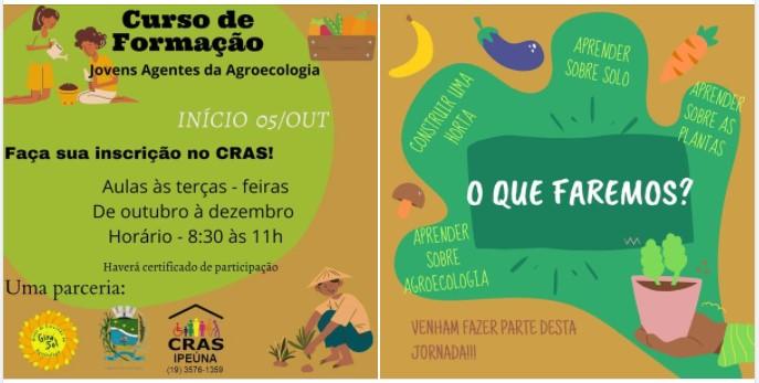 Cras oferece formação para jovens agentes da Agroecologia